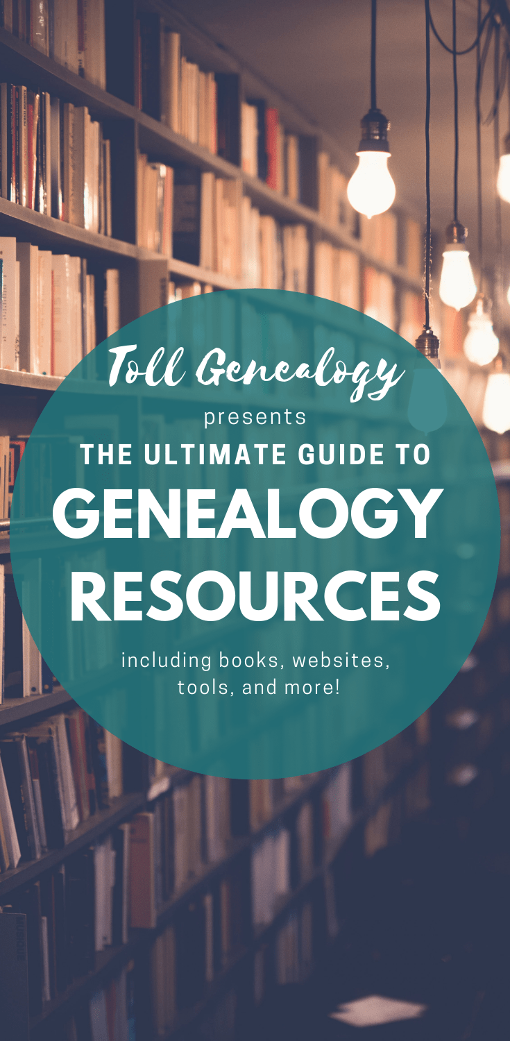Toll Genealogy\'s ultimate guide to genealogy resources! A mammoth collection of genealogy and genetic genealogy resources including books, DNA analysis tools, software, websites and learning resources