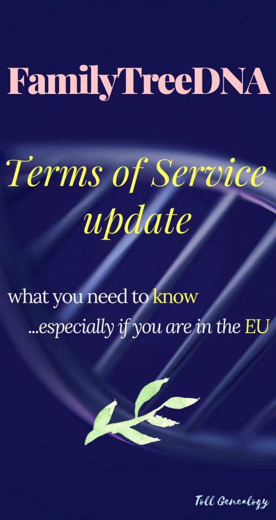 FamilyTreeDNA updated terms of service what you need to know