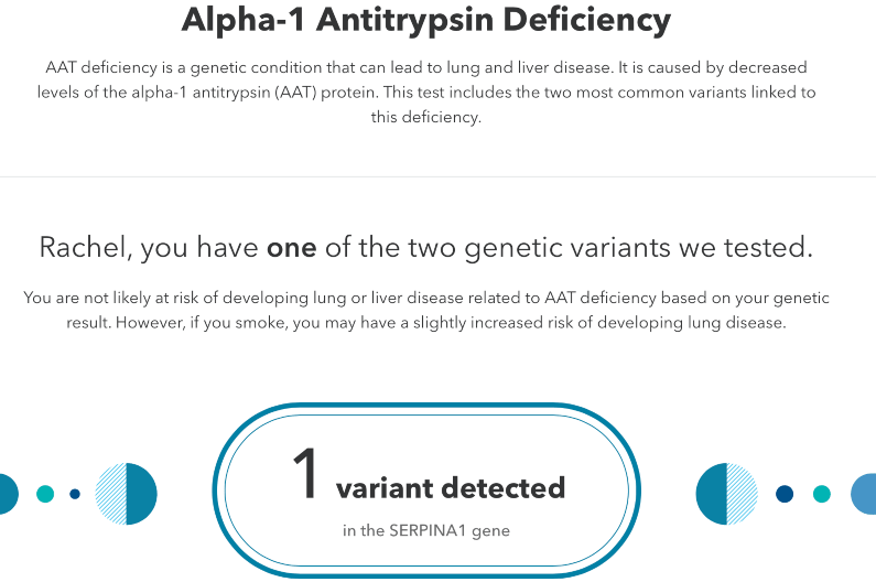 23andMe example predisposition