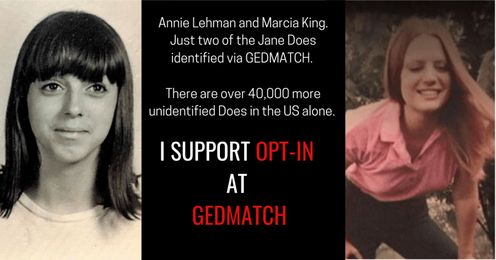 I support Gedmatch Opt-in