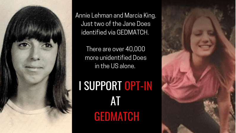 Gedmatch Opt-In: A Plea