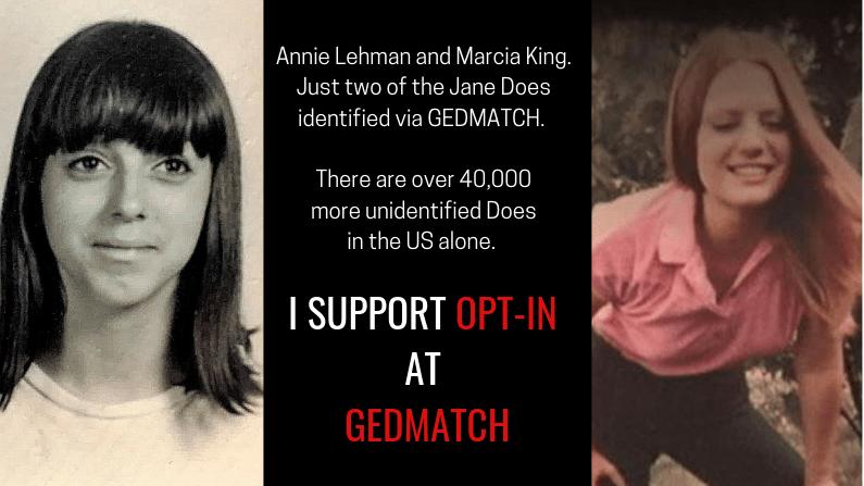 Gedmatch Opt-In: A Plea