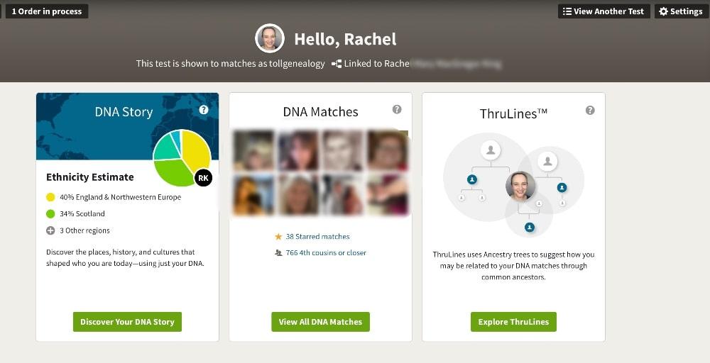 AncestryDNA Main Page